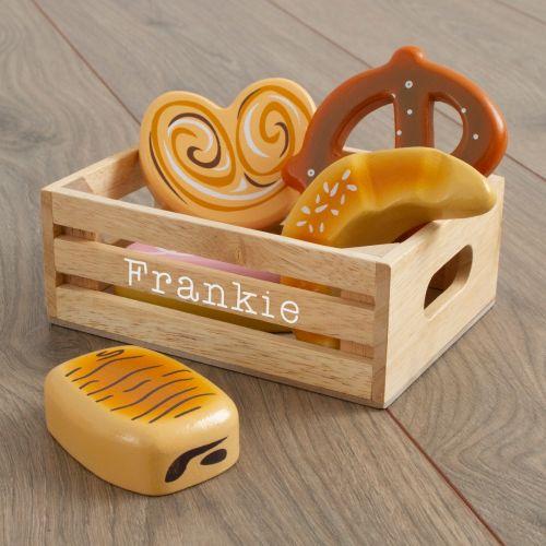 Personalised Le Toy Van Wooden Bakers Basket