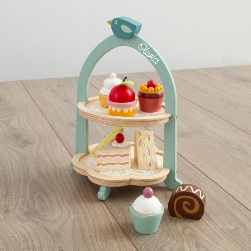 Personalised Tenderleaf Wooden Afternoon Tea Play Set