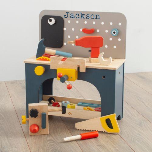 Personalised Tenderleaf Wooden Tool Bench Toy