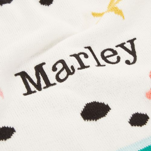 Personalized Mini Mono Polka Dot Design Intarsia Knitted Blanket