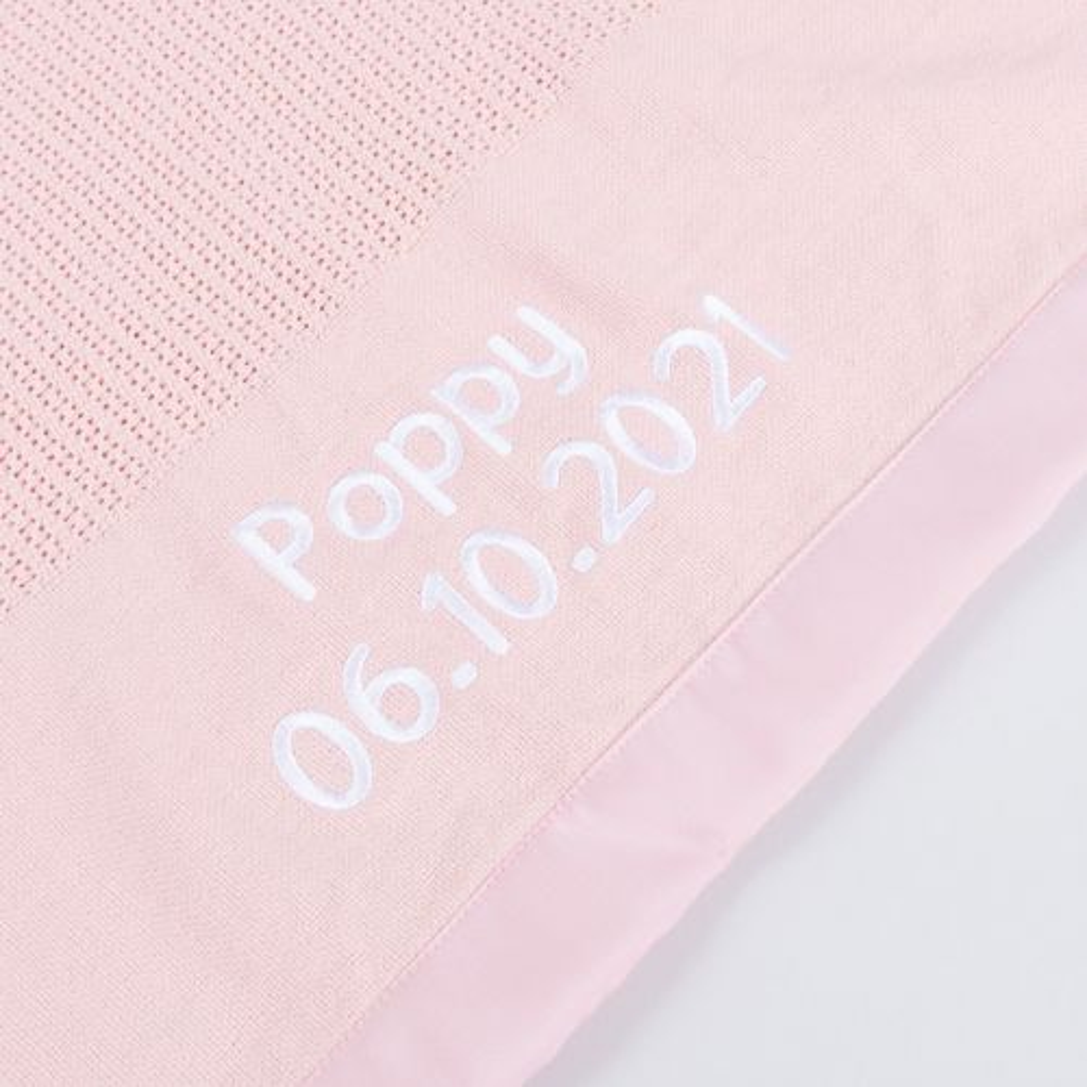 Personalised Light Pink Cellular Blanket