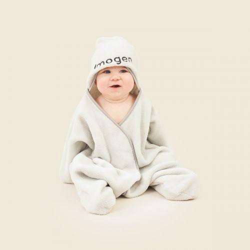 Personalised Grey Star Hooded Fleece Wrap