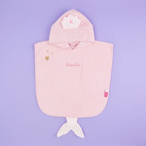 Personalized Mermaid Towelling Poncho