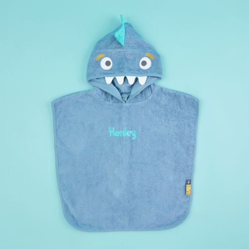 Personalised Monster Towelling Poncho