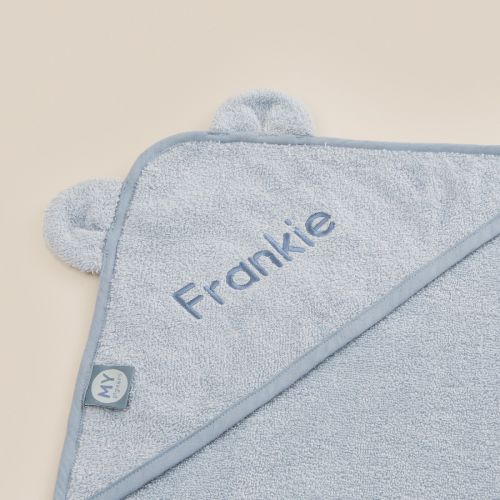 Personalized Blue Hooded Towel
