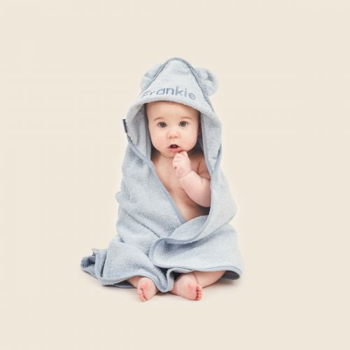 Personalised Blue Hooded Towel Model