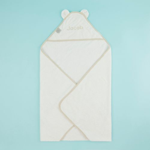 Personalised Large White Hooded Bath Towel