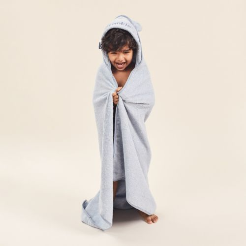 Personalized Large Blue Hooded Bath Towel