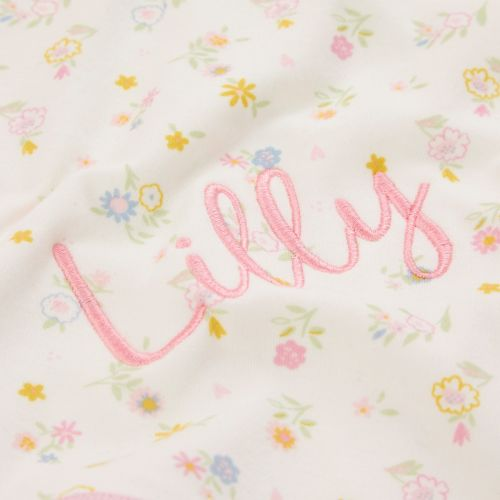 Personalised Floral Print Organic Jersey Blanket