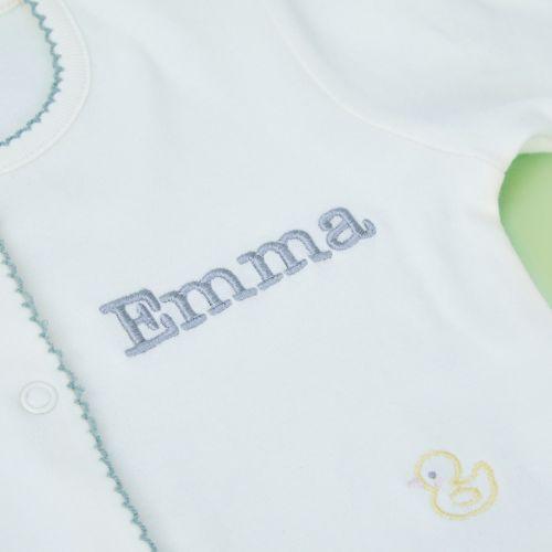 Personalized Elephant Print Organic Sleepsuit