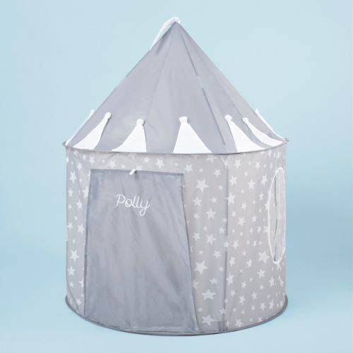 Personalized Gray Star Play Tent