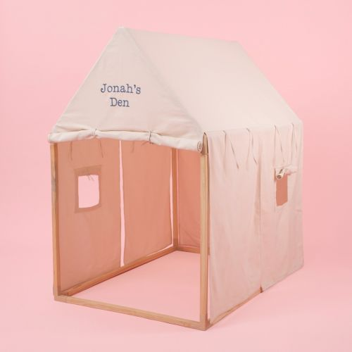 Personalized Cream Play House Tent