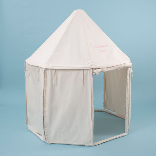 Personalized Cream Pavillion Play Tent