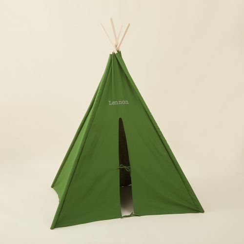 Personalized Green Teepee Tent