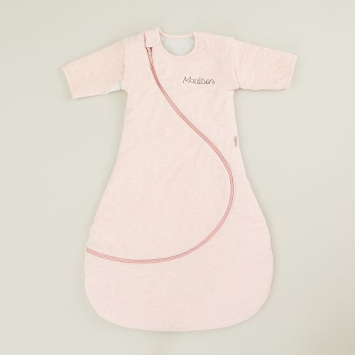 Personalised Purflo Pink Swaddle to Sleep Bag