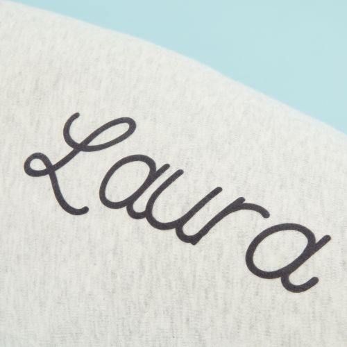 Personalised Purflo Grey 'Breathe' Pregnancy Pillow