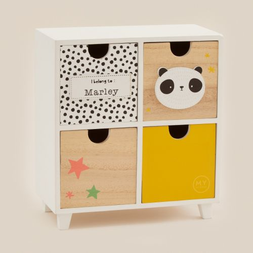 Personalized Mini Mono Baby Keepsake Drawers