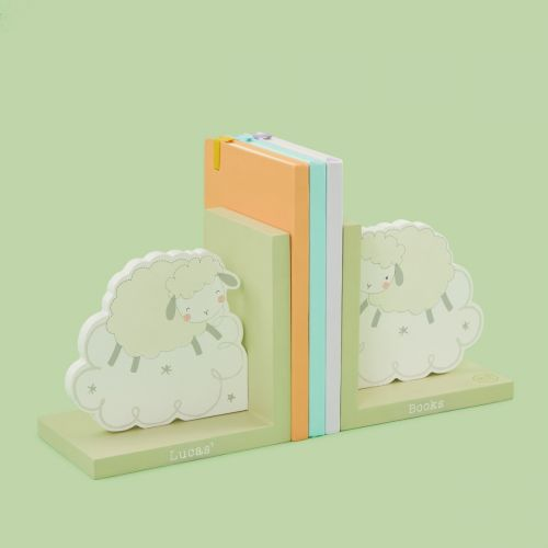 Personalised Wooden Sheep Bookends