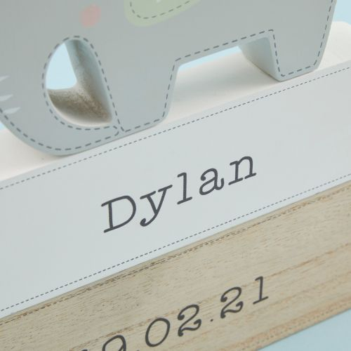Personalised Wooden Elephant Name Sign