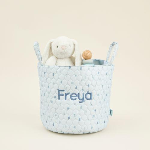 Personalised Medium Blue Polka Dot Storage Bag