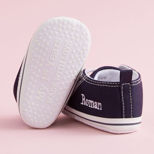 Personalised Navy Blue High Tops Trainers