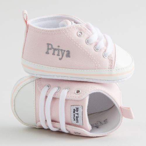 Personalised Pink High Tops Trainers