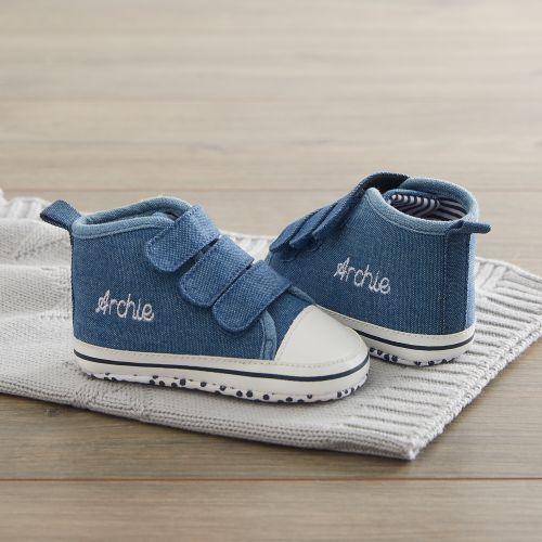 Personalized Chambray High Top Sneakers