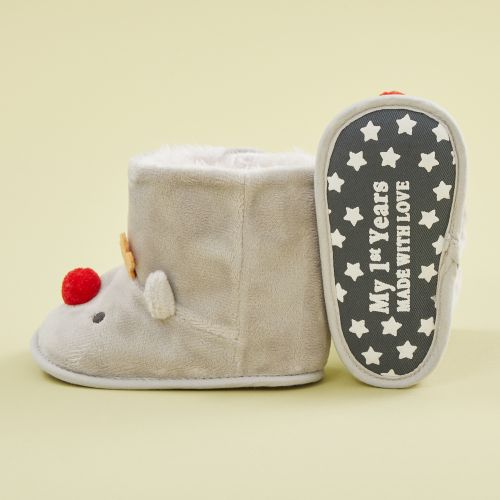 Personalized Reindeer Booties