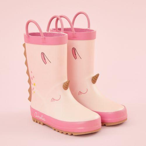 Personalised Pink Unicorn Wellies