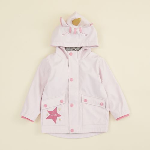 Personalized Unicorn Jersey Lined Raincoat