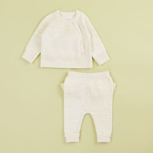Oatmeal Knitted Baby Outfit Set