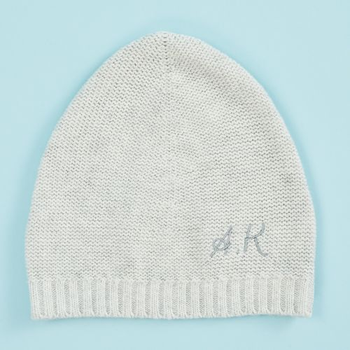 Personalized Knitted Gray Hat