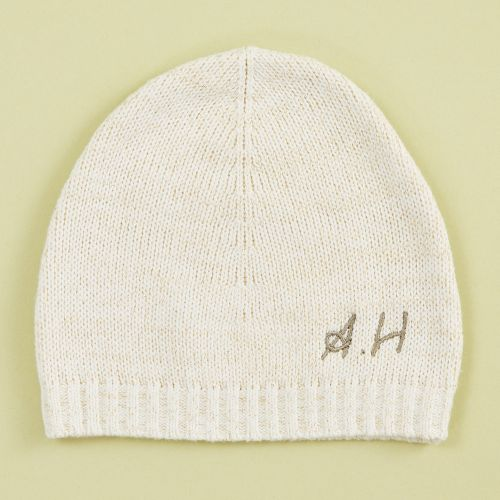 Personalized Knitted Oatmeal Hat