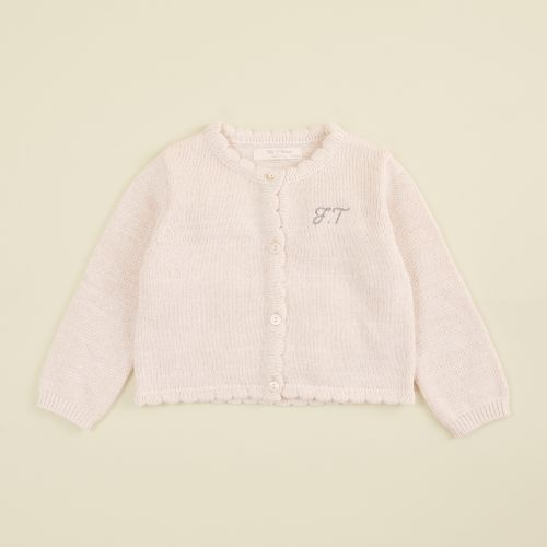 Personalized Pink Knitted Cardigan