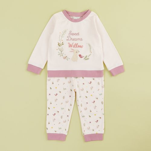 Personalised Pink Woodland Animals Pyjama Set