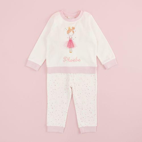 Personalised Pink Princess Pyjama Set