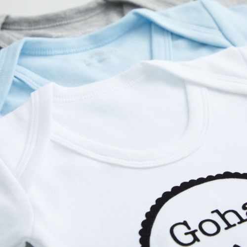 Personalised Pack of 3 Bodysuits with Love Mummy Design