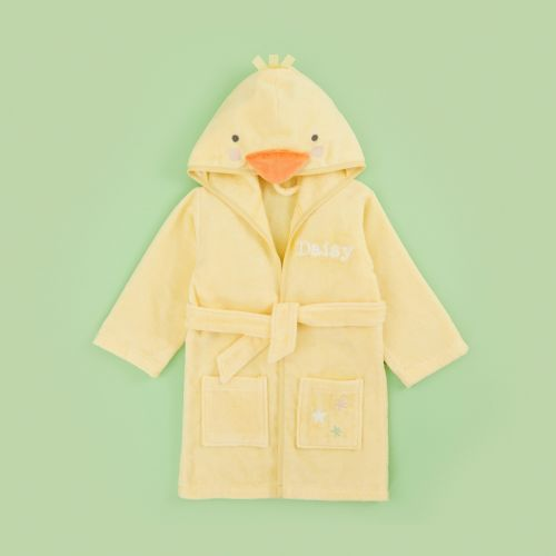 Personalised Yellow Little Duckling Towelling Dressing Gown
