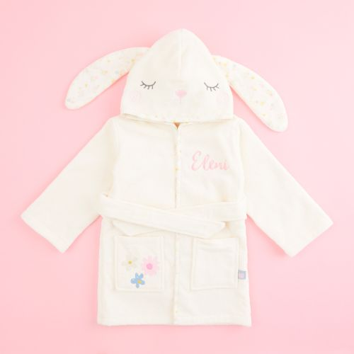 Personalized Ivory Bunny Towelling Robe