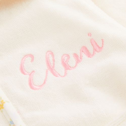 Personalised Ivory Bunny Towelling Robe