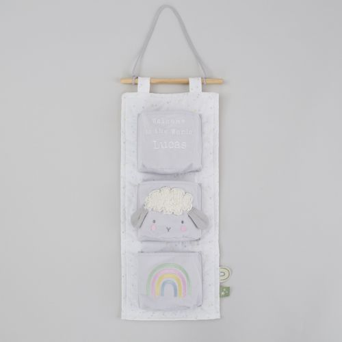 Personalised 3 Pocket Cot Storage