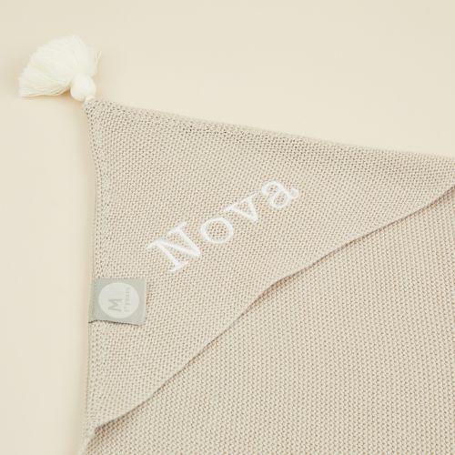 Personalised Grey Organic Hooded Blanket