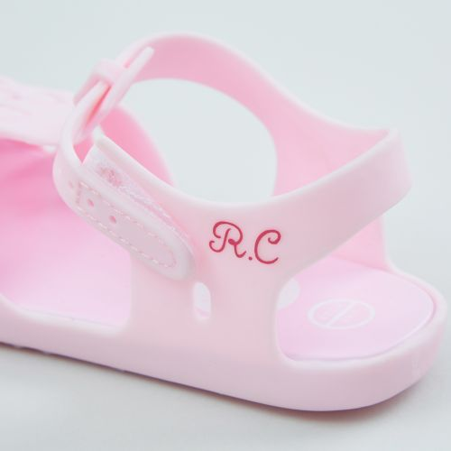 Personalised Pink Toddler Jelly Shoes