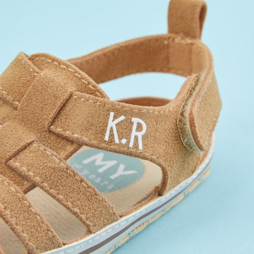 Personalised Beige Fisherman Sandals