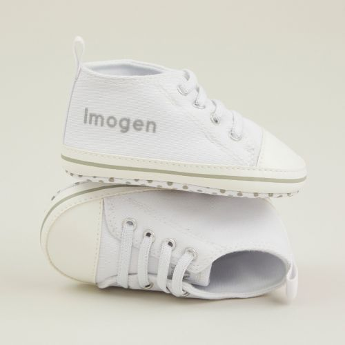 Personalised White High Tops Trainers