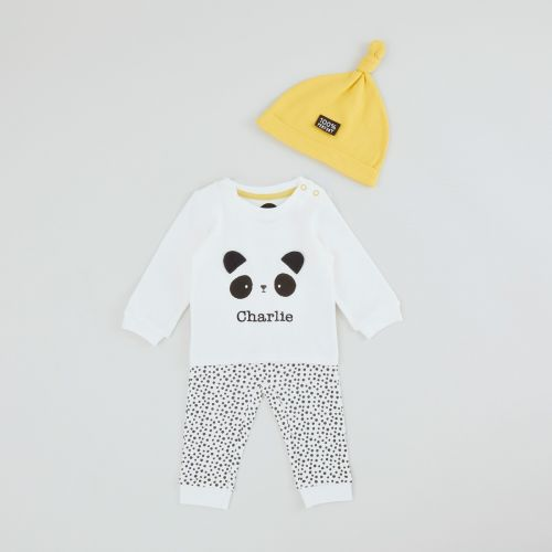 Personalized Panda Design Outfit Set (3 piece)