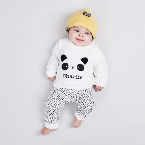 Personalised Panda Design Outfit Set (3 piece)