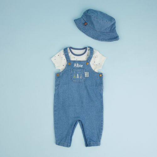 Personalized Forest Design Denim Outfit Set