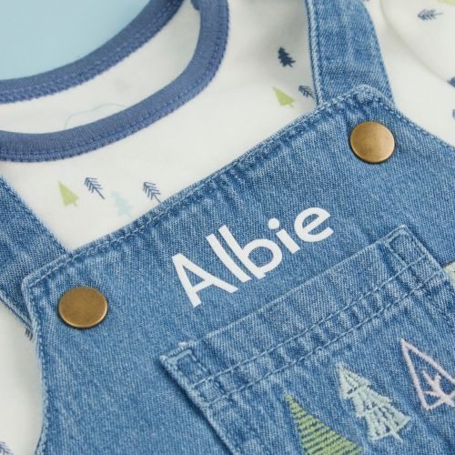 Personalised Forest Design Denim Outfit Set