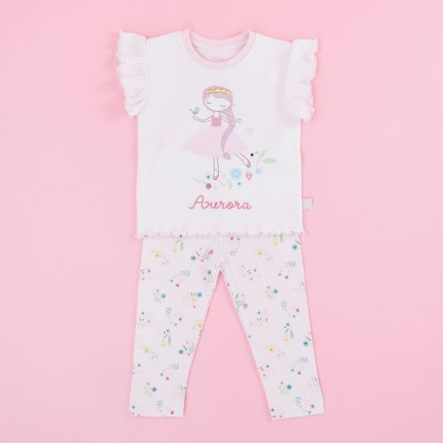 Personalised Children's Pink Princess Pyjamas Set